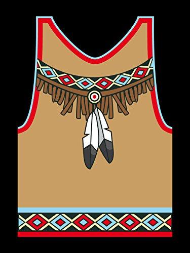 clothinx Herren T-Shirt Karneval Indianer Schwarz