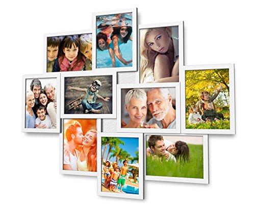 Artepoint Fotogalerie für 10 Fotos 13x18 cm - 3D Optik - 1002 Bilderrahmen Bildergalerie Fotocollage Rahmenfarbe Weiß
