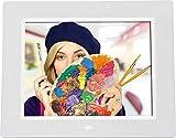 Rollei Degas DPF-800 - Digitaler Bilderrahmen mit 8.0? (20,3 cm) TFT-LED Panel, Uhrzeitanzeige, Kalenderfunktion, Diashow und Dreh-Funktion, inkl. Fernbedienung - Wei� Bild