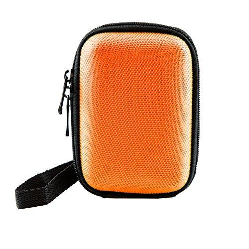 iProtect Universal Kamera Hülle Tasche extra stoßfest mit Schultergurt und Gürtelschlaufe in orange