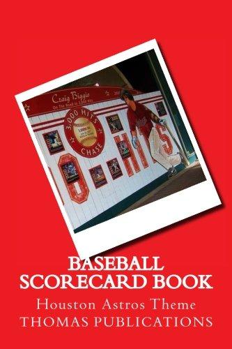 Baseball Scorecard Book: Houston Astros Theme