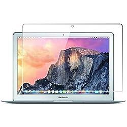 Zshion Protecteur D'écran en Verre Trempé pour MacBook Air 13 ,9H 0.3mm HD Clair Anti-éclatement Film Protecteur écran Tempered Glass Screen Protector pour MacBook Air 13.3