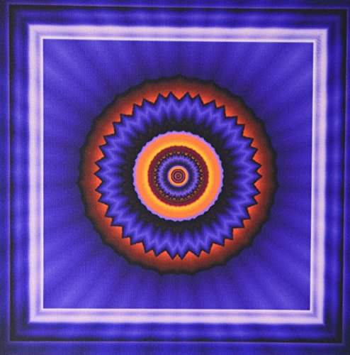 3dRose LLC Mandala 12 Glowing Energy Power Meditation india Orient Peace Harmony Chakra Newage Pattern Mouse Pad, Blue/Red/Gold (mp_24846_1)