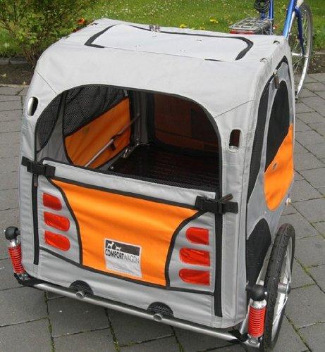 Petego Comfort Wagon L Gefederter Aluminium Hunde Fahrradanhänger