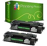 Printing Pleasure 2 Toner kompatibel für HP Laserjet Pro 400 M401 MFP M425 Serie   CF280A 80A