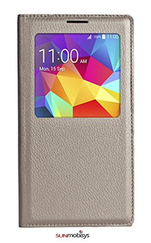Sun Mobisys Samsung Galaxy Core Prime Flip Cover; Premium Faux Leather For Allround Protection Phone Case Champagne Gold  available at amazon for Rs.149