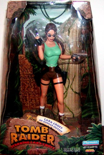 Playmates 72002 TOMB RAIDER 1999 - Deluxe Diorama Box - Lara Croft in Jungle Outfit - OVP