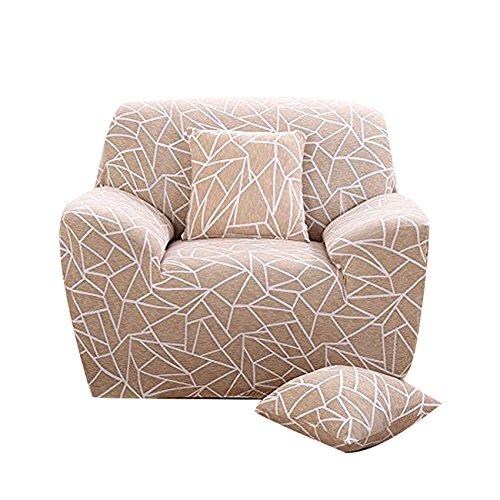 FORCHEER Sofabezug Elastischer Sofaüberwurf Blumen-Muster Sofa Cover Stretch Hussen für Sofa/Couch in Verschiedenen Größen(1-Sitzer, 90-135cm)