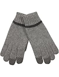 ELMA 5-Finger Touchscreen Damen-Winterhandschuhe aus Wollstrick