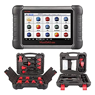 Autel MaxiDAS DS808K with Full Connect Kit (Upgraded Version of DS808, DS708) Automotive OE-Level Diagnostic Tool OBD2 Scanner Support Injector with Key Coding and Multi-language System