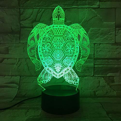wangZJ 3d led nachtlicht / 3d illusion lampe/weihnachtsgeschenk nachtlicht / 7 farbwechsel dekor lampe/geburtstagsgeschenk/schildkröte -