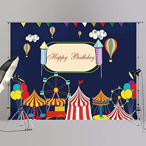 joypark Circus Zelt Foto Booth Hintergrund für Party Dekorationen Supplies Fotografie Rückseite Drop für Baby-Dusche Oder Geburtstag Bilder Vinyl Requisiten, W308, 8x6ft(250x185cm)