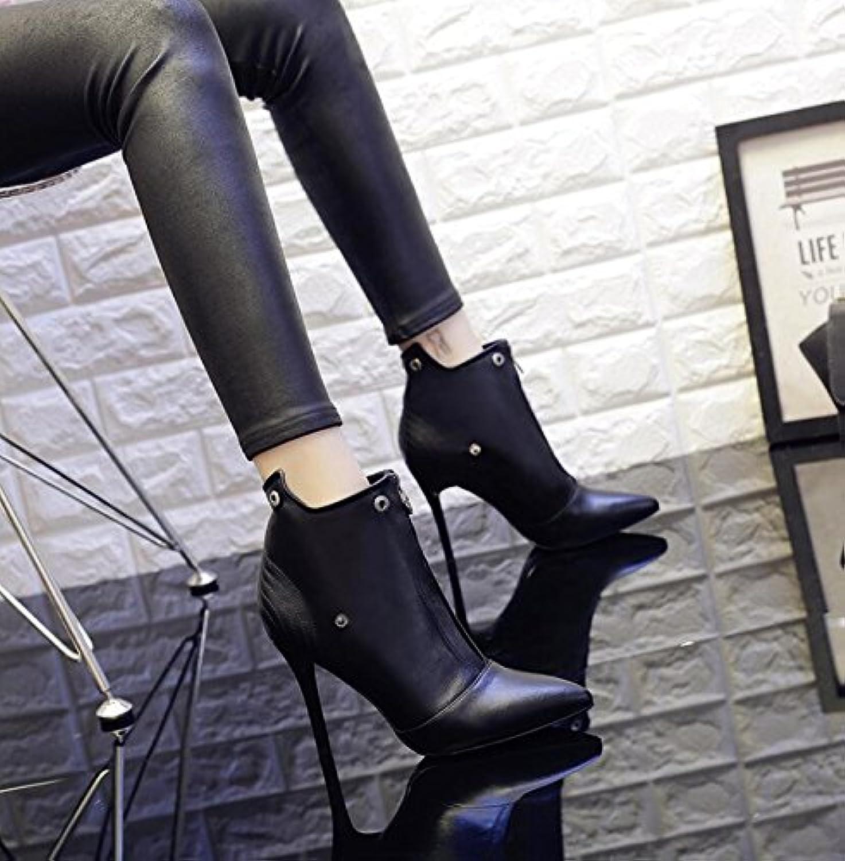 KHSKX-Nero 9Cm 9Cm 9Cm Stivali Bene Con La Versione Coreana Di Nudo Femminile Stivali E Versatile High-Heel Punta Scarpe...   Vendite Online  11dad7
