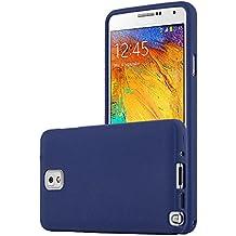 Cadorabo - Cubierta protectora para Samsung Galaxy NOTE 3 de silicona TPU en diseño Escarcha – Case Cover Funda Carcasa Protección en FROST-AZUL-OSCURO