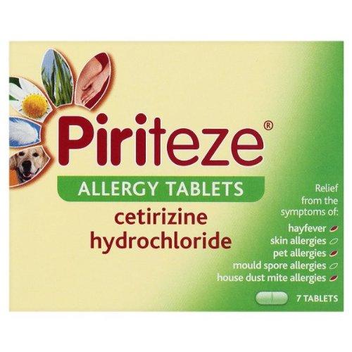 Piriteze Allergie-Tabletten 7 Tabletten (Packung mit 6 x 7s)