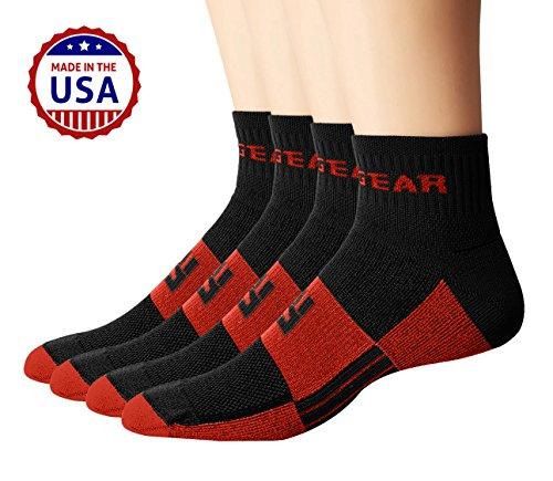 mudgear Trail Running Socken für Damen und Herren, Made in USA–2Paar Pack (Sock Zwei-paar-pack)