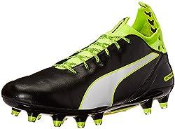 PUMA Men s Evotouch Pro FG Soccer Shoe Black/White/Safety Grey 7 D(M) US