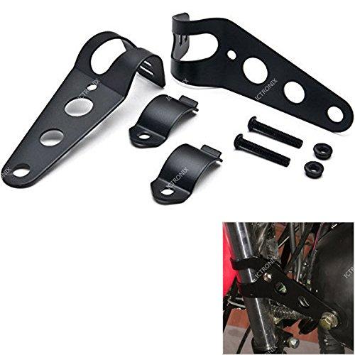 Paar Universal Motorrad Scheinwerferhalter Halterungen Lampenhalter Für 33mm-39mm Gabel Ohren Halterung