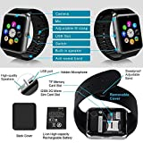 Marklif Bluetooth Smart Watch Compatible with All 3G, 4G Phone With Camera and 3G Sim Card Support