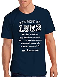 """Mens """"The Best of 1962"""" 56th Birthday T Shirt Gift, 100% Soft Cotton"""