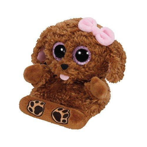 TY TY00005 - Soporte para teléfono móvil con modelo de perro de peluche Zelda, color marrón