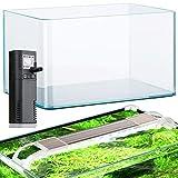 Acuarios acuario 12,5 litros de cristal filtro y...