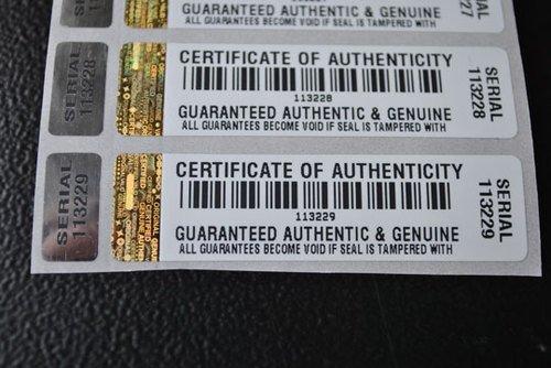 250x Echtheitszertifikat Echtheitszertifikat manipulationssicherer Sicherheit Aufkleber/Etiketten mit Hologramm und entsprechende Kleines Label