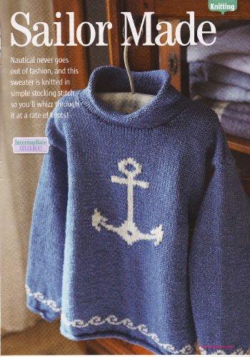 Children's Sailor Nautical Motif Sweater Knitting Pattern: To fit chest 68cm 76cm 82cm 86cm: Materials Roman Denim (Woman's Weekly)