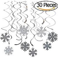 Vamei del copo de nieve de Navidad Decoración colgante 30pcs tridimensional de los remolinos de techo