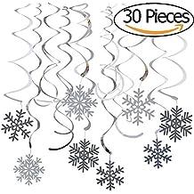 Vamei del copo de nieve de Navidad Decoración colgante 30pcs tridimensional de los remolinos de techo kit colgante y la pared de la decoración Conjunto de Fiesta