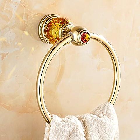 all-Kupfer/Kristall Handtuchring/Ring Handtuchhalter/Continental Handtuch hängen Ring-C