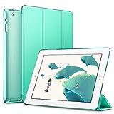 ESR Funda iPad 2/3/4, Función de Soporte, Botones Protegidos, Carcasa Ligera Antigolpes de Cuero Sintético y Plástico Duro Esmerilado, Verde menta