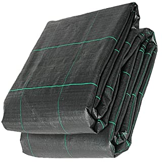 QVS Shop 5M X 20M Heavy Duty 100gsm Weed Suppressant Geotextile Membrane Cover. Ideal for Driveways, Paths, Decking and other large areas.