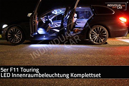 LED Innenraumbeleuchtung SET für 5er F11 Touring - Cool-White - kein Panoramadach
