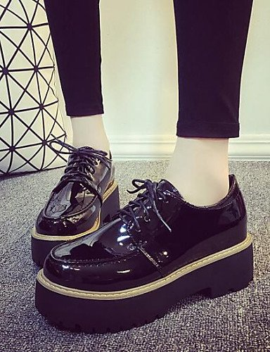 ZQ hug Scarpe Donna-Sneakers alla moda-Formale / Casual-Punta arrotondata / Comoda-Plateau-Finta pelle-Nero , black-us8 / eu39 / uk6 / cn39 , black-us8 / eu39 / uk6 / cn39 black-us7.5 / eu38 / uk5.5 / cn38