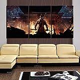 ksjdjok Pinturas de Arte de fantasía Cuadros de Ninja Sekiro Shadows Die Twice Game Poster Obra de Arte Pintura de la Lona para la Decoración Casera 40X60 CM 3 Unidades