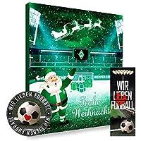 Bremen SV Werder Premium Adventskalender gefüllt inkl. Poster + gratis Lesezeichen & Aufkleber Wir lieben Fussball