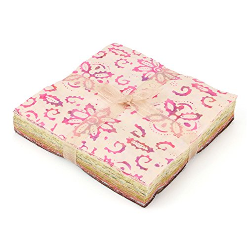 LOUDelephant Baumwolle Batik Charm Pack Pre Cut Stoff Bundle - Pink zu Browns