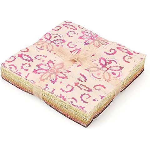 LOUDelephant algodón Batik encanto unidades Pre corte de tela–rosa para Browns