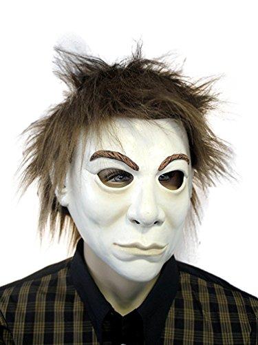 Karneval Klamotten Fantom Maske Phantom mit Plüschhaar aus Latex Halloween Karneval (Halloween Kostüm Fantome)