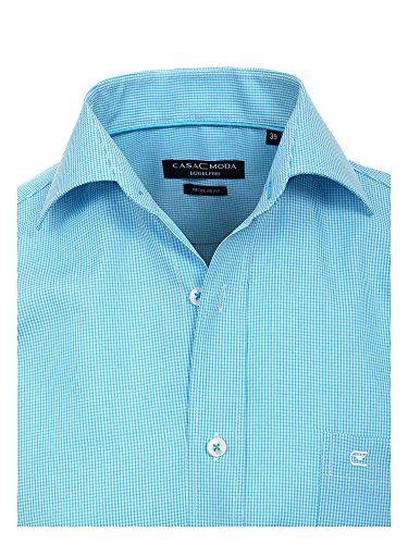 CASAMODA Herren Businesshemd Regular Fit extra lange Ärmel und Rumpf Türkis