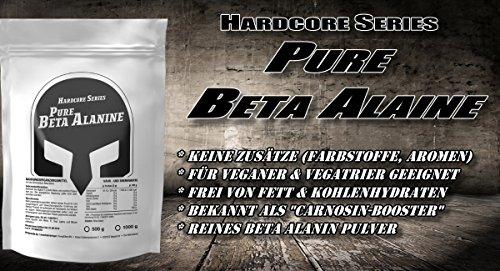 Beta Alanin | 1000g / 1kg Pulver Big Pack XL | Steigert Carnosin-Produktion | Kraft + Kraft-Ausdauer | Für den Muskelaufbau | Premium Qualität