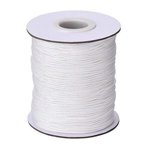 Trimming Shop 2mm weiß Nylon geflochten Band Aluminium Jalousien, Schattierungen Weiß, 20 Meters