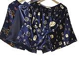 Wantschun Herren Satin Silk Unterwäsche Nachtwäsche Boxershorts Unterhosen Pyjama Bottom Shorts Pants Hose C+Blau+B EU M (Etikettengröße XL)