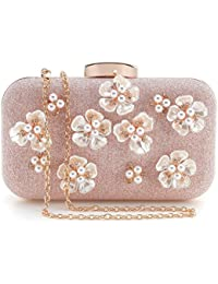 d290ce362d1bfc PARADOX (LABEL) Womens Glitter Floral Rhinestone Beaded Evening Bags  Wedding Clutch Purse