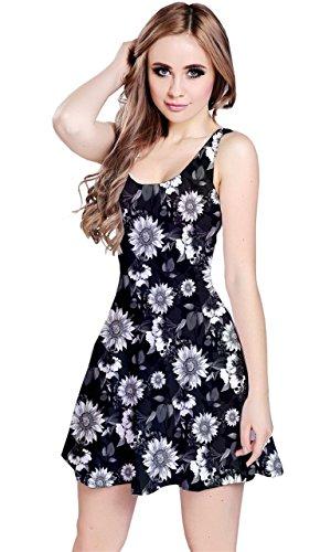 CowCow - Robe - Femme Black and Neon Multicolore - Noir et blanc