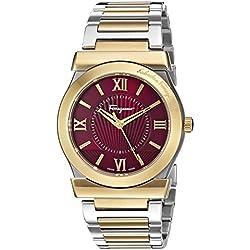 Salvatore Ferragamo Men's 'Vega' Quartz Stainless Steel Casual Watch, Color:Two Tone (Model: FI0030015)