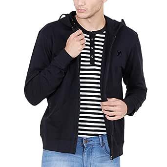 Fashion Freak Hoodie Sweatshirt for Men Zipper Pull Over Style (X-Large) Black