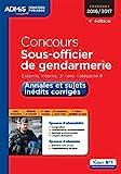 Concours Sous-officier de gendarmerie - Catégorie B - Annales et ...