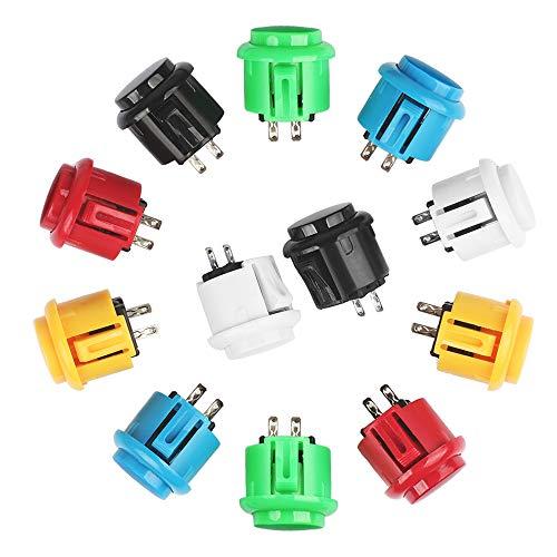 Arcade Tasten Schalter 24 * 33mm Druckknöpfe 24 Stück Perfekte Ersetzen für Arcade Kampfspiele Joystick Spiele Teile -
